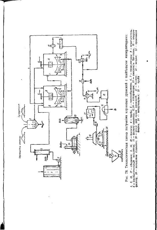 Технология производства дрожжей схема