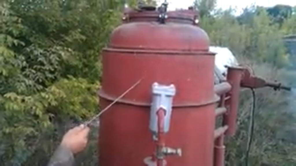 Изготовление газогенератора на дровах 191