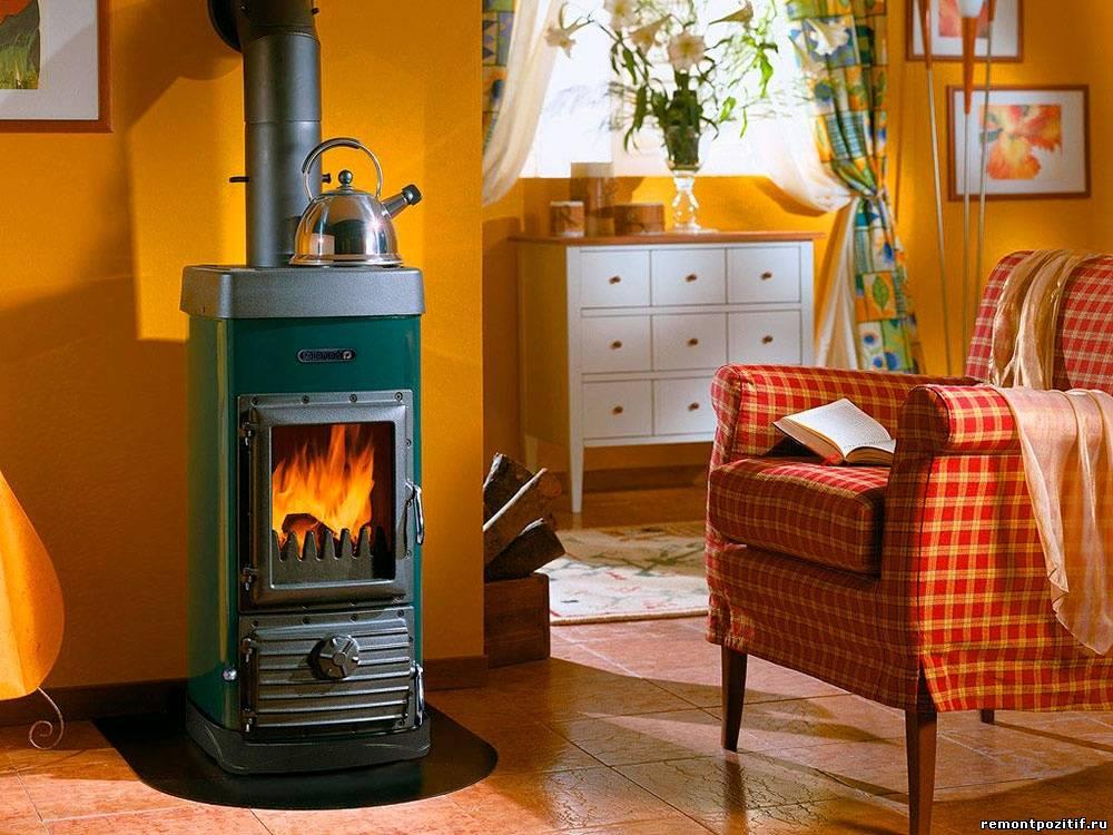 Отопительная печь для дома на дровах